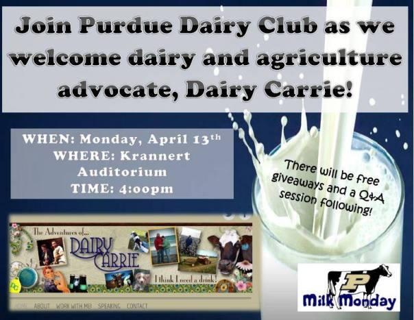 Purdue Ag Week - Dairy Carrie Ad